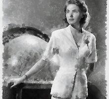Ingrid Bergman by John Springfield by esotericaart