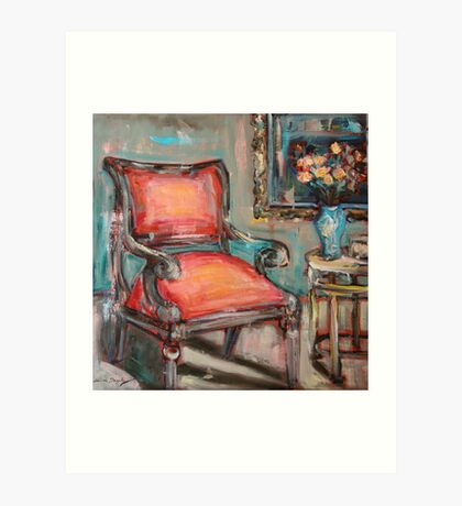 Red Chair Art Print