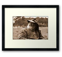 Horseman in the High Country Framed Print
