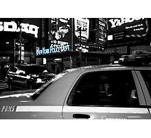Neon Police Photographic Print
