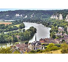 Le Petit-Andely and The Seine Banks Photographic Print