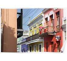Old San Juan Colors Poster
