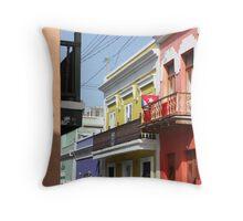Old San Juan Colors Throw Pillow
