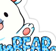 unBEARably Cute Polar Bear Sticker