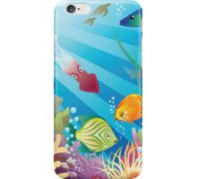 Under the deep blue see Design T-shirt iPhone Case/Skin