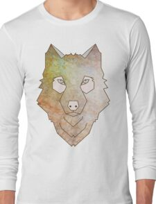 Muticoloured Wolf Long Sleeve T-Shirt