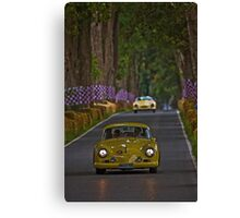 Yellow cars Canvas Print