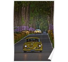 Yellow cars Poster