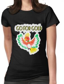Go for gold ho-oh Womens Fitted T-Shirt