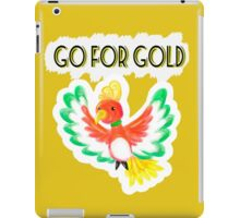 Go for gold ho-oh iPad Case/Skin