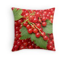 Market: Red currant  Throw Pillow