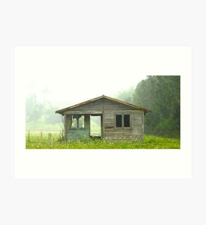 Abandoned House on Rainy Day Art Print