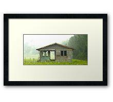 Abandoned House on Rainy Day Framed Print