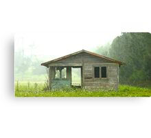 Abandoned House on Rainy Day Canvas Print