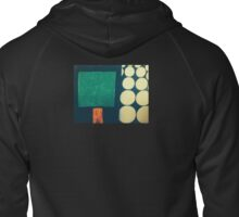 Squared bubble Zipped Hoodie