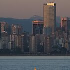 Vancouver Skyline with Kayak by Stephen Hawkins