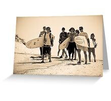 Beach boys & girls Greeting Card