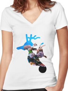 Kingdra used dive Women's Fitted V-Neck T-Shirt