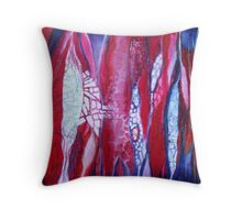 Fragmented paths Throw Pillow