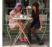 Cafe Girls 2 Photographic Print