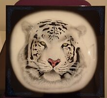 White Bangel Tiger Airbrushing by Risus1972