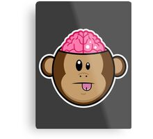 Monkey Brains Metal Print