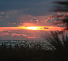 Sunset at Sand Key by Ilene Clayton