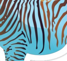 Baby Blue Zebra  Sticker