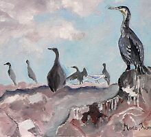 Cape Cormorants by Marie Theron