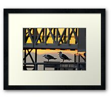 The Embers of Evening Framed Print