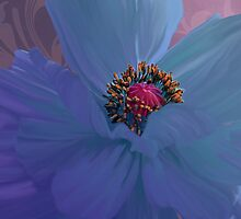 Afterglow, Vibrant, colorful poppy floral art by Glimmersmith