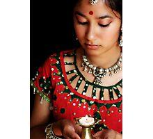 Diwali Candle Portrait Photographic Print