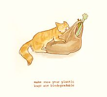 cattism 33: make sure your plastic bags are biodegradable by Whitney Mattila