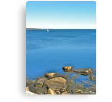 And in the Far Distance, Africa! Canvas Print
