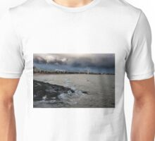 0565 Storm over St Kilda Beach Unisex T-Shirt