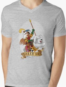 Tally Ho! Mens V-Neck T-Shirt