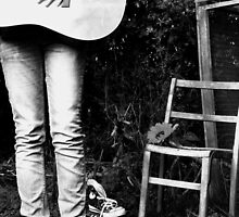yes, i will stand outside & play my guitar in my socks(: by Elly rose Page