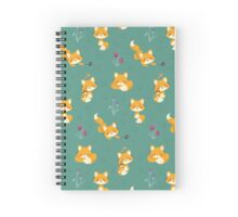 Kawaii Fox pattern Spiral Notebook