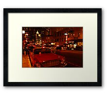 a nights stumble along Columbus... Framed Print
