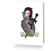 DeltaKnights Gaming TV with shield  Greeting Card