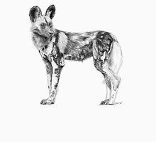 African Wild Dog Sketch T-Shirt