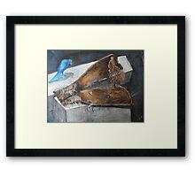 blue bird - fantasy Framed Print