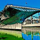 USS Hornet Psychedelic by Bob Moore
