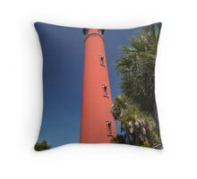 Ponce De Leon lighthouse, Florida Throw Pillow