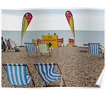 Life guards Brghton beach Poster