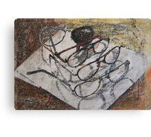 broken glasses - still life for  office Canvas Print