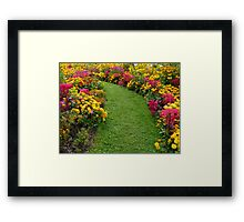 You are welcome to walk on the grass! Framed Print