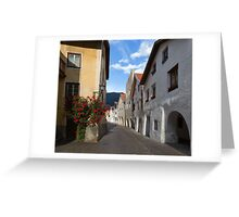Streets of Glorenza Greeting Card