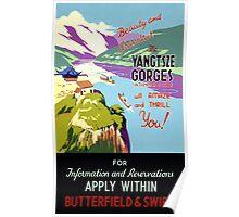 Yangtsze Yangtze Gorges China Vintage Poster Poster