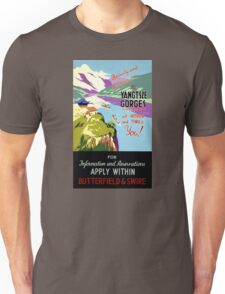 Yangtsze Yangtze Gorges China Vintage Poster Unisex T-Shirt